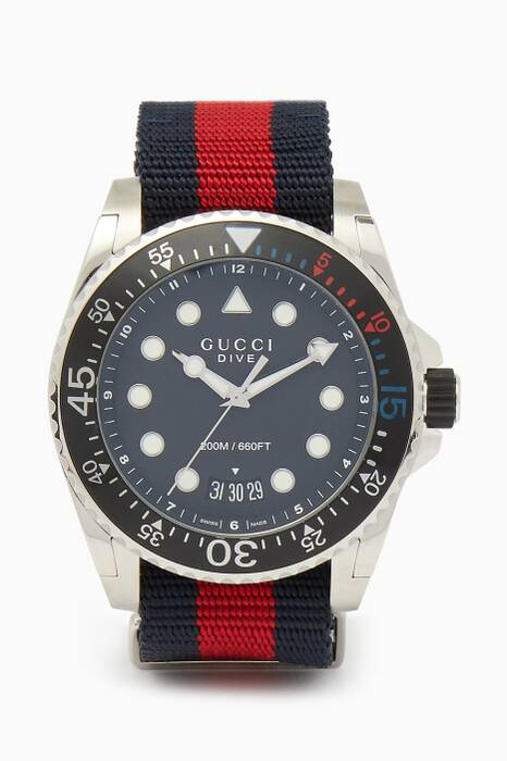 Red & Blue Web Dive Watch