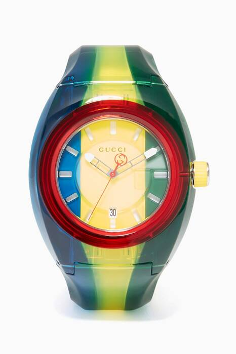 Blue, Green & Yellow Gucci Sync Watch