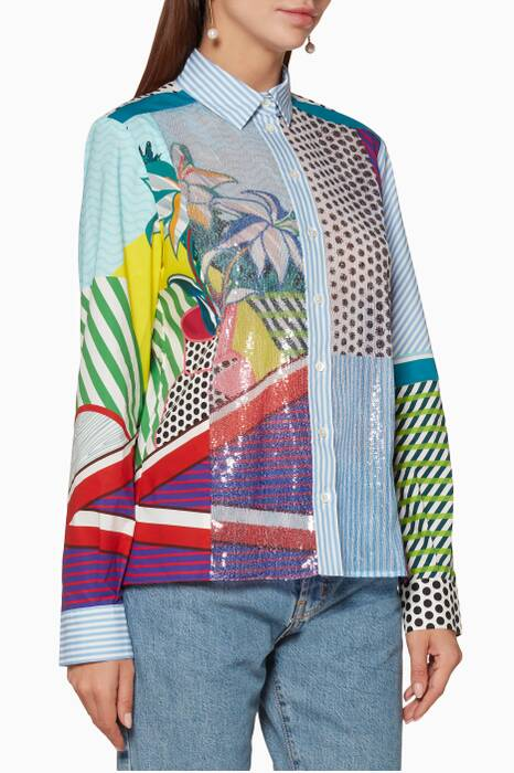 Multi-Coloured Claude Printed Shirt