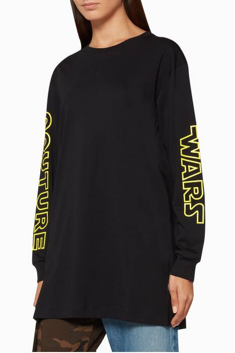 Black Long-Sleeve Couture Wars T-Shirt