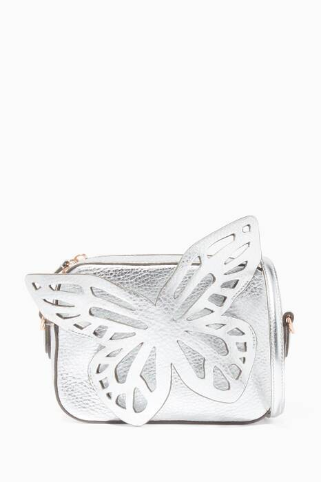 Silver Flossy Butterfly Camera Bag