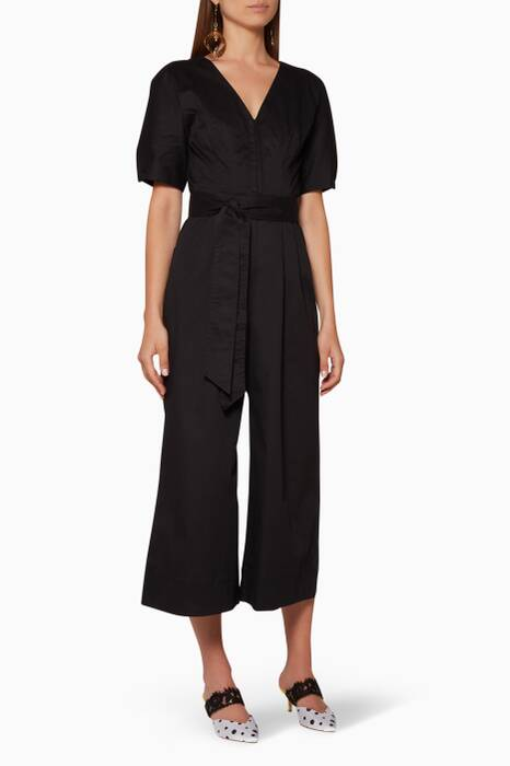 Black Cropped Adept Jumpsuit