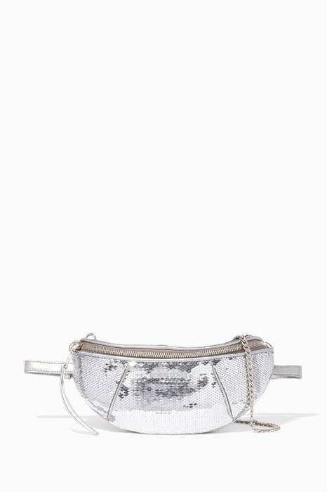 Silver Sequin Belt Bag