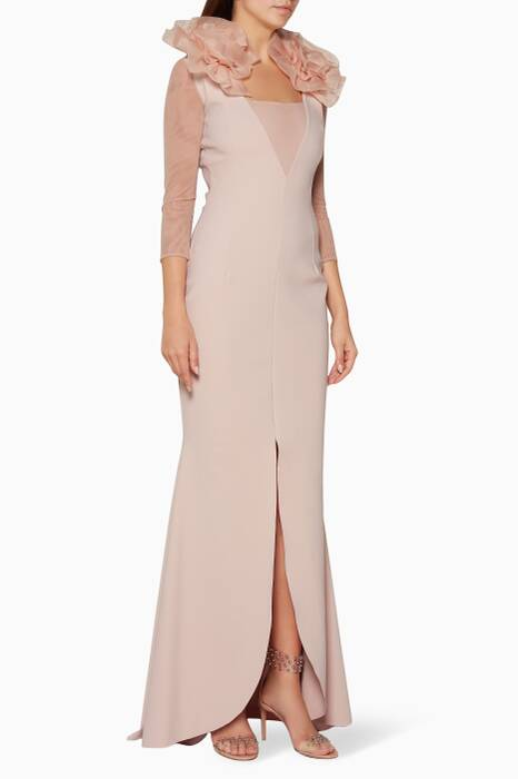 Light-Pink Zoran Organza Gown