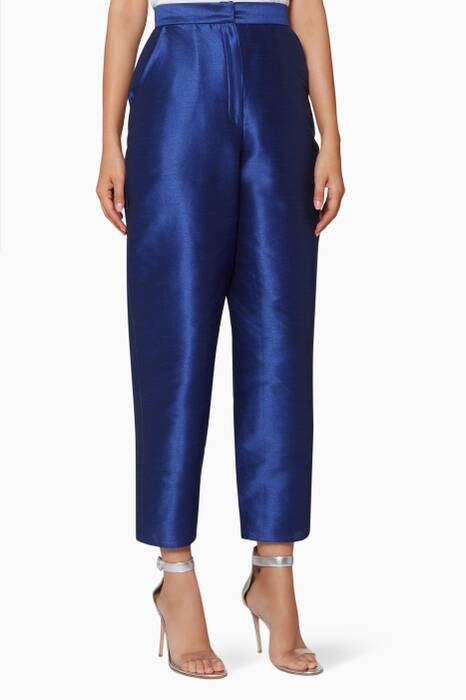 Royal-Blue High-Waisted Jazmine Pants