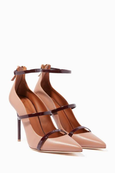 Burgundy & Nude Robyn Pumps