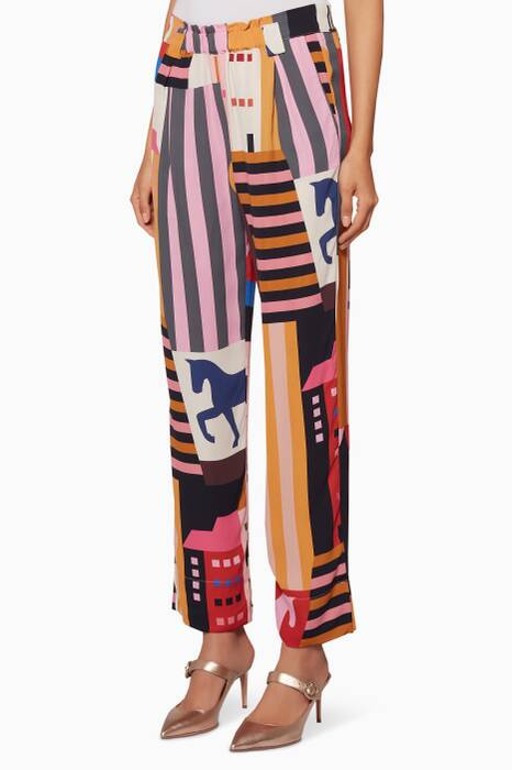 Multi-Coloured Printed Vinnie Pants