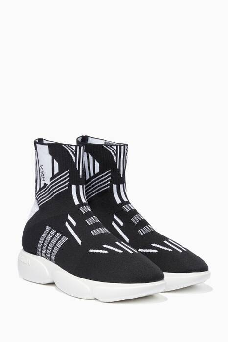 Black & White Cloudburst High-Top Sneakers