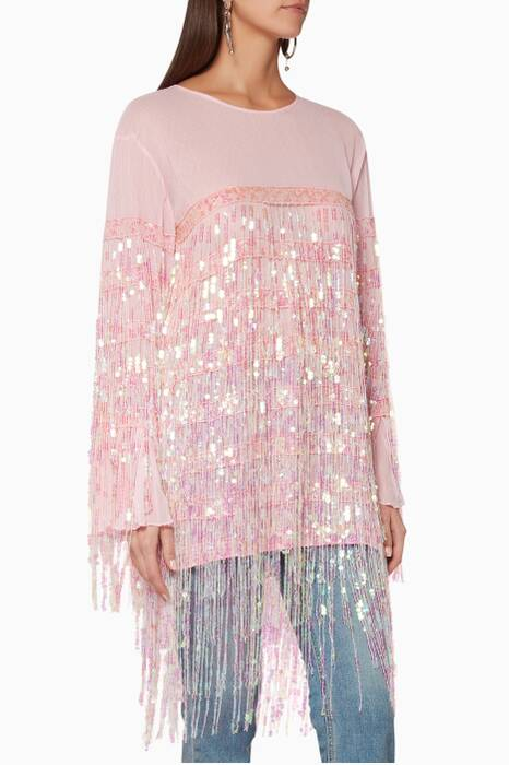 Light-Pink Angel Dribble Top