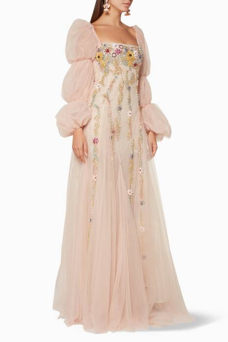 Light-Pink Roisin Crystal-Embellished Gown