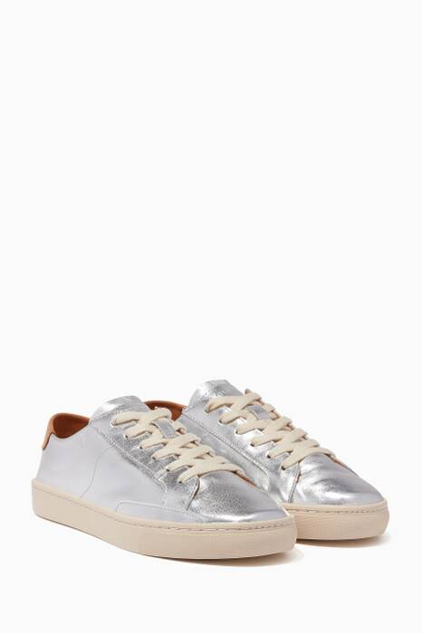 Silver Leather Ibiza Sneakers