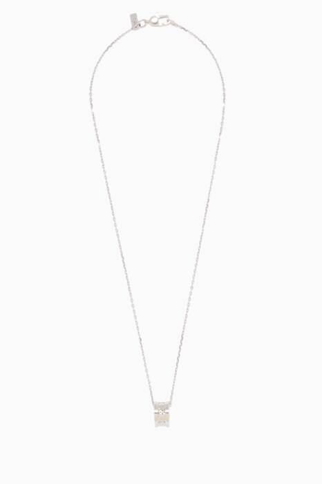 White-Gold Icon Twirl Pendant Necklace