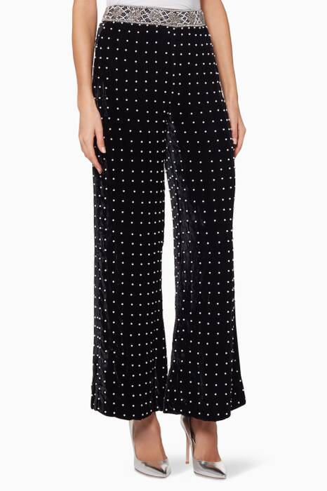 Black Embellished Khloe Pants