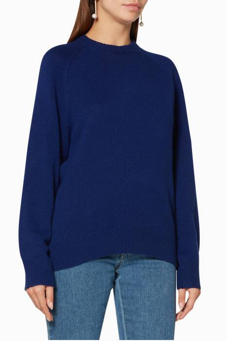 Blue Knit Sweatshirt