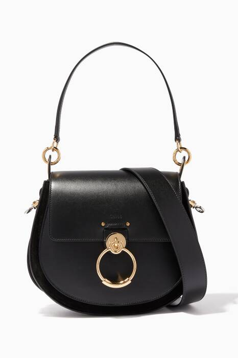 Black Medium Tess Shoulder Bag