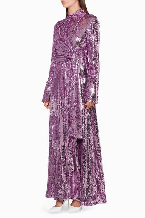 Lilac Knot Sequin Gown