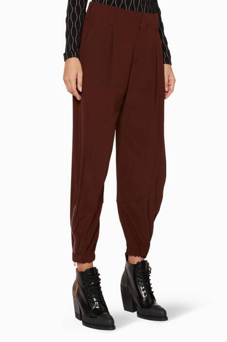 Obscure-Brown Silk Pants