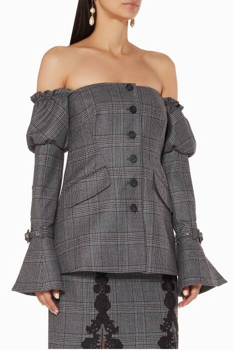 Grey Wool Corset Jacket