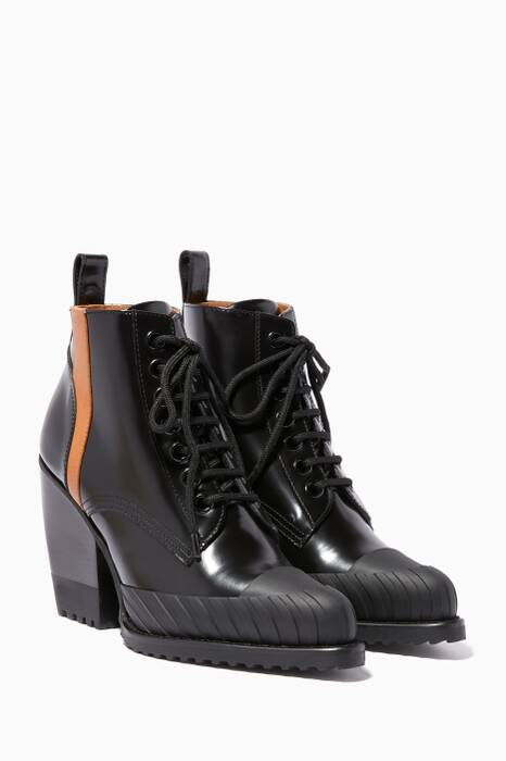 Black 90 Rylee Lace-Up Booties