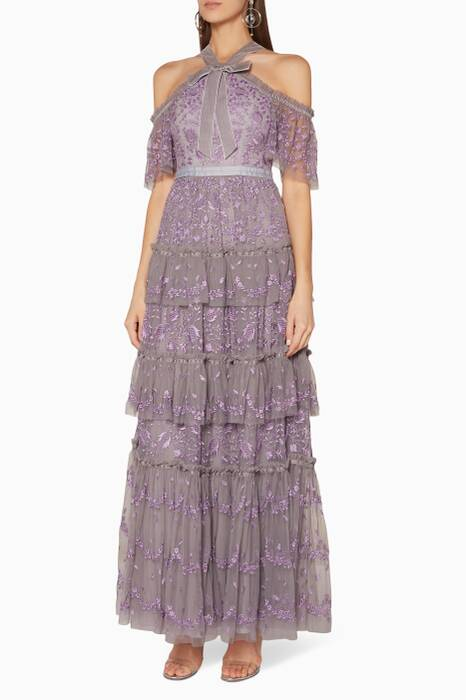 Lavender Embroidered Primrose Gown