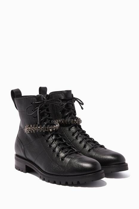 Black Cruz Leather Boots