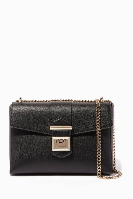 Black Small Marianne Leather Shoulder Bag