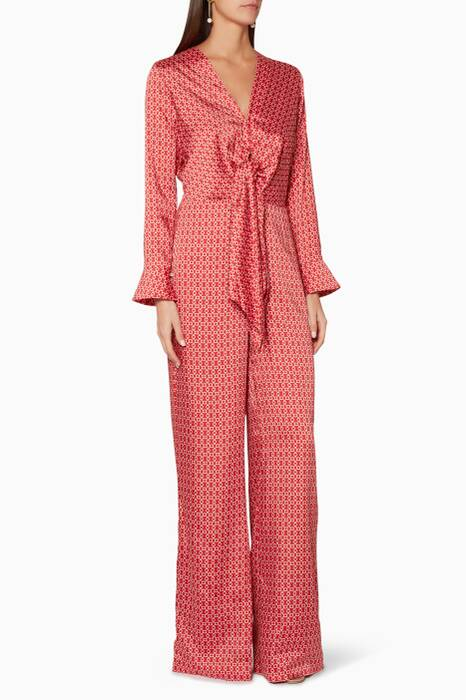 Red Shona Jumpsuit
