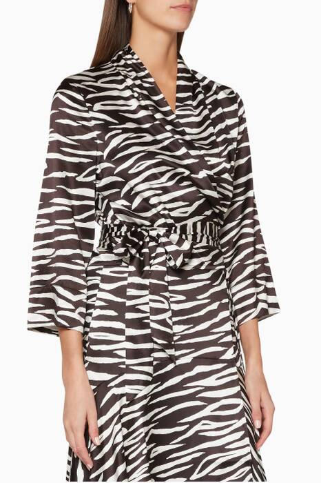 Black & White Zebra-Print Blakely Top