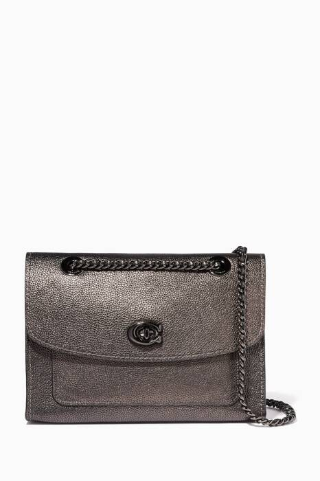 Metallic Graphite Parker Shoulder Bag