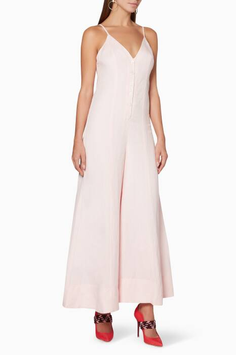 Light-Pink Brooke Flared Jumpsuit