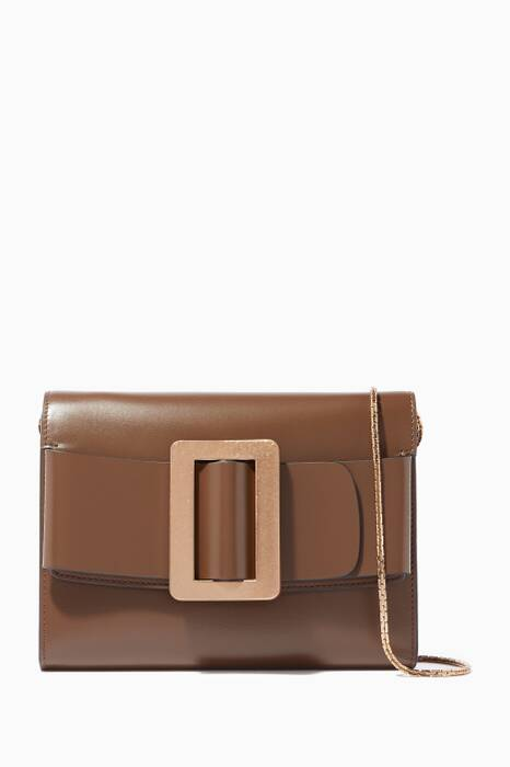 Brown Travel Leather Cross-Body Bag