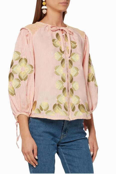 Light-Pink Embroidered Sir Külsware Top