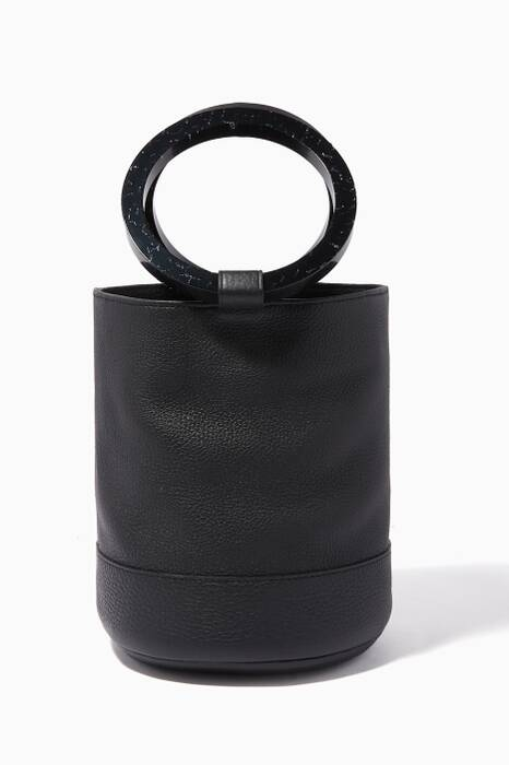Black Bonsai 20 Leather Bucket Bag