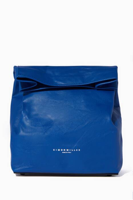 Bright-Blue Lambskin Lunchbag 20 Clutch