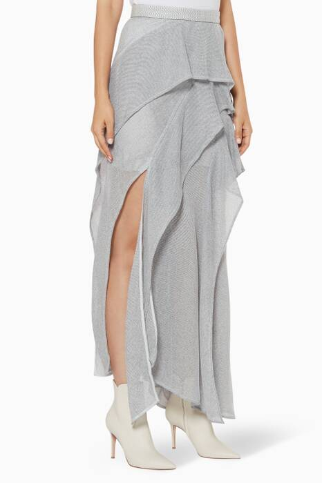 Grey Layered Leone Skirt