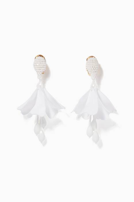 White Small Impatiens C Earrings