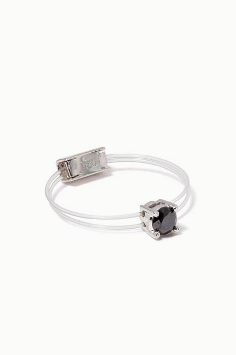 White-Gold & Diamond Floating Sparkly Me Ring