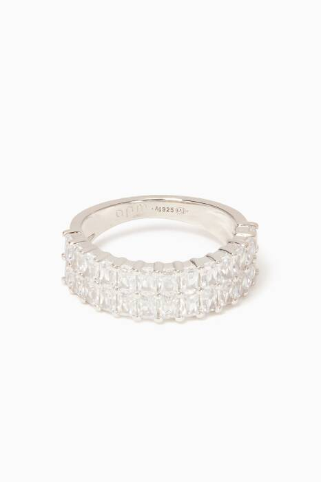 Silver Precieuse Baguette Ring