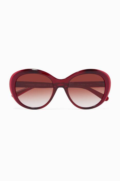 Deep-Berry Oval Sunglasses