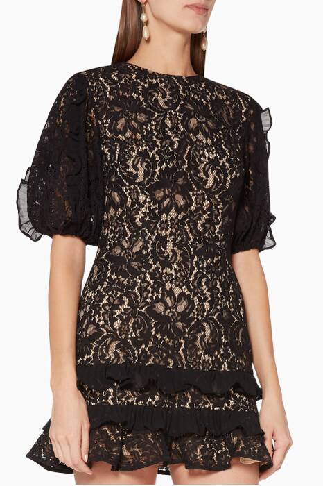 Black Timeless Lace Mini Dress