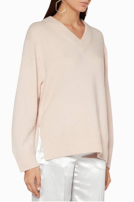 Desert-Rose Cashmere V-Neck Tunic