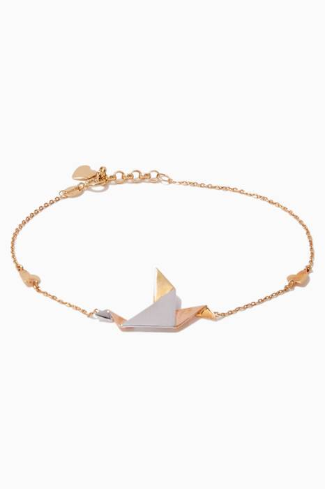 Mix-Gold Geogami Dove Bracelet