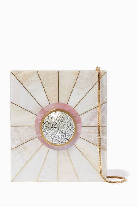 White & Pink Shell Eden A Clutch