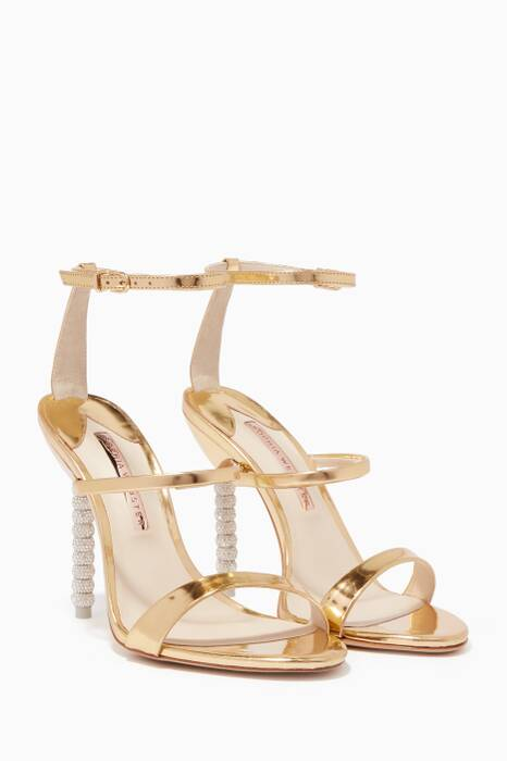 Gold Rosalind Crystal Sandals