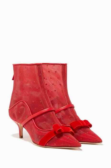 Red Claudia Luwolt Mesh Booties