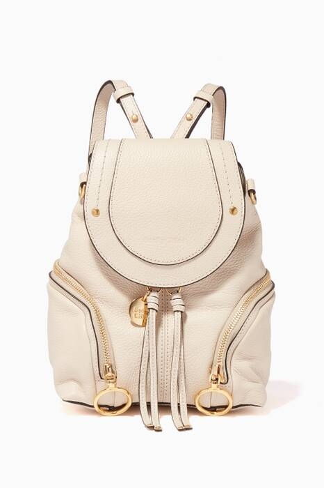 Cement-Beige Small Olga Backpack