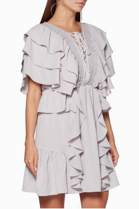 Lilac Rhapsody Ruffled Dress