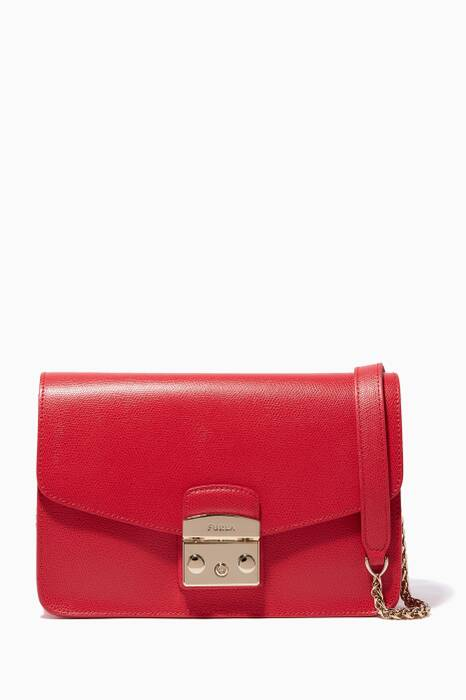 Red-Ruby Metropolis Shoulder Bag