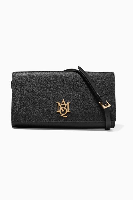 Black Insignia Pouch Shoulder Bag