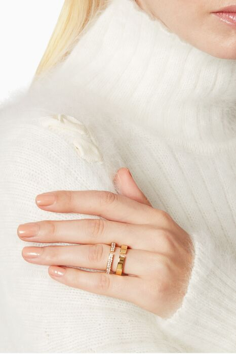 Gold Nonna Due Crystal Ring